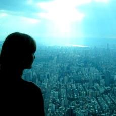 Overlooking Taipei from 101